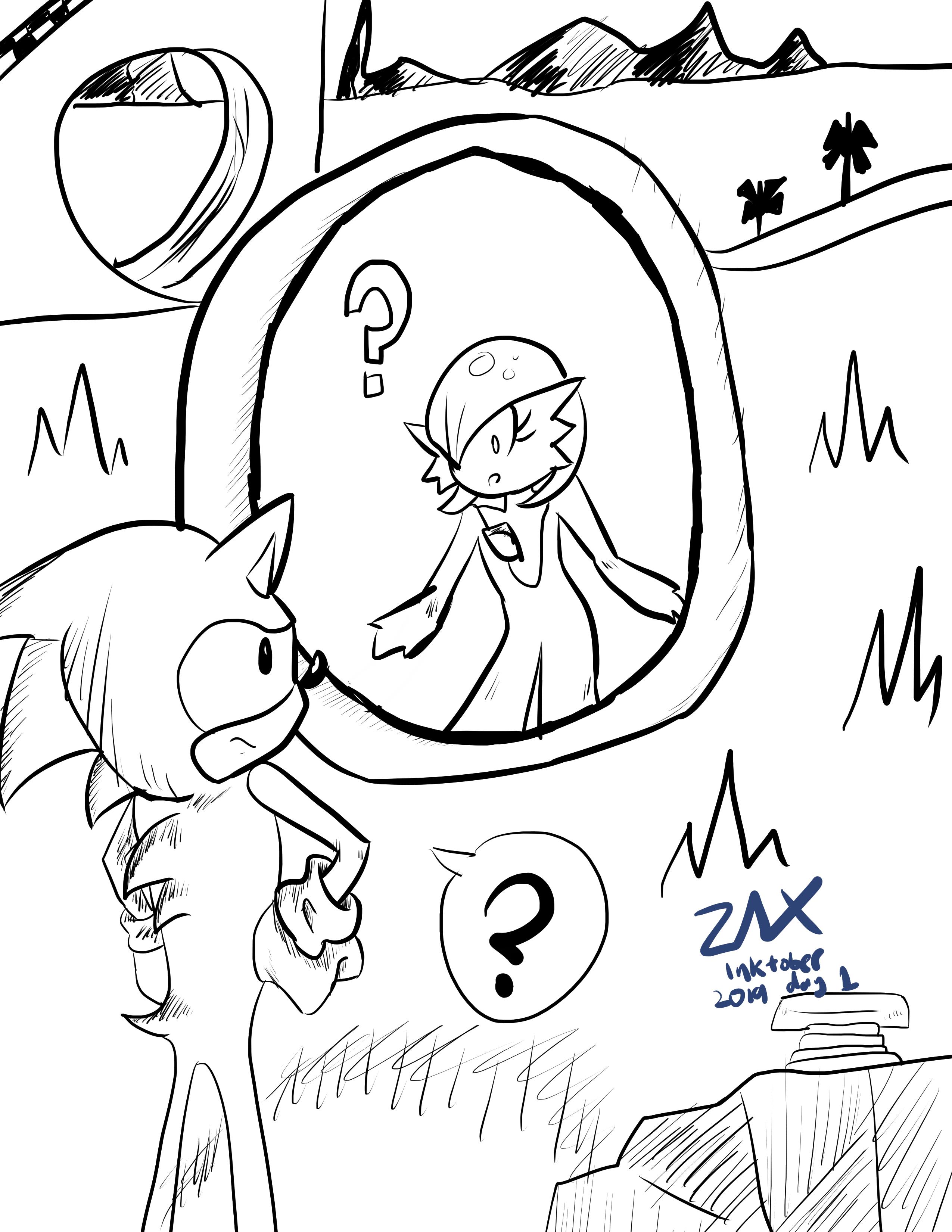"""INKtober day 1: """"Ring"""""""