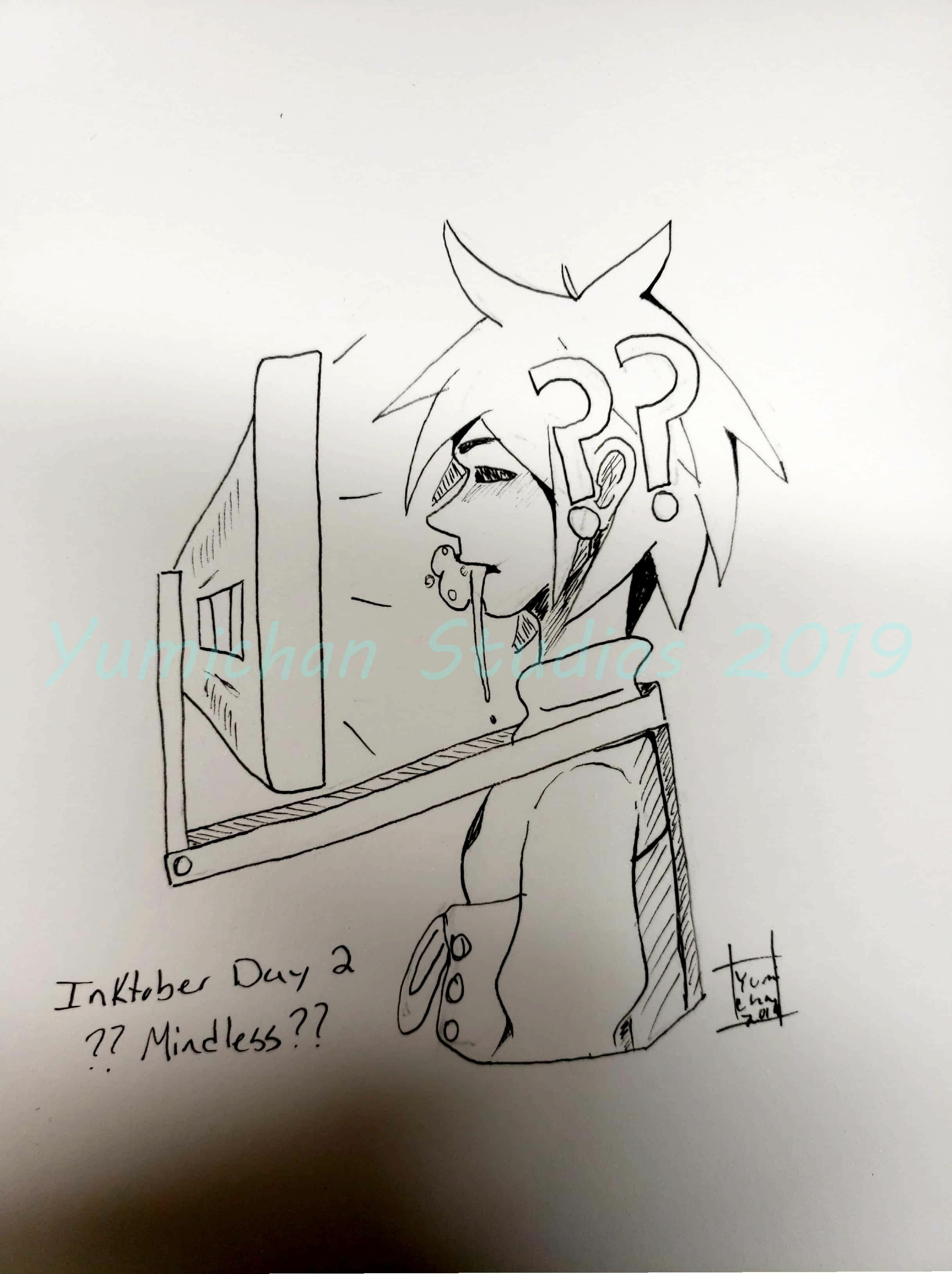 Inktober Day 2 Mindless By Yumichanstudios On Newgrounds