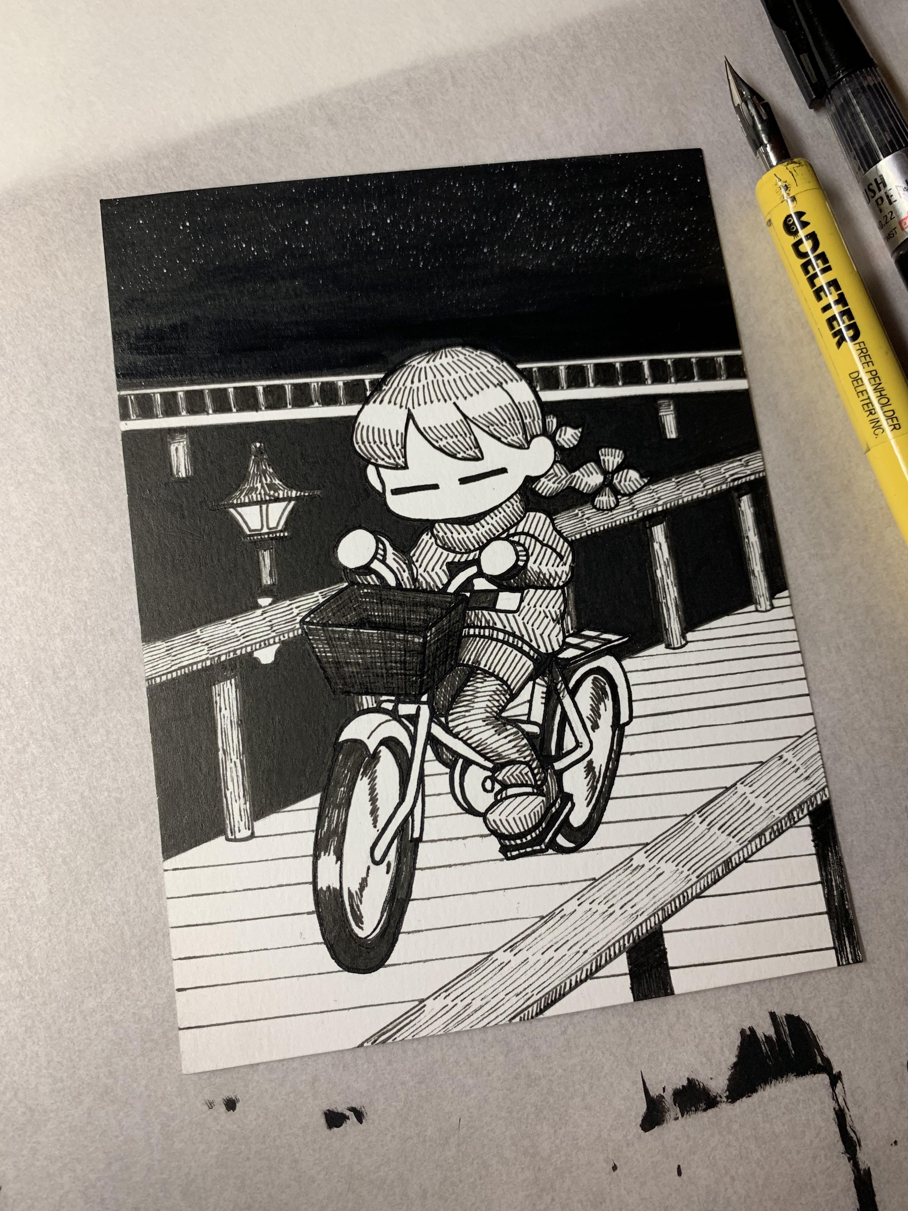 Inktober 2019 - No. 2 - Bicycle