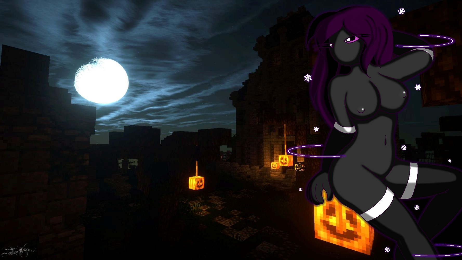 Halloween with Enderwoman~ WP. Version