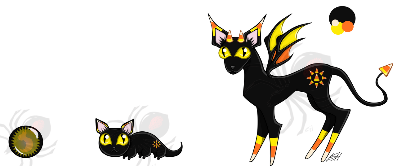 Candy Corn Checha (closed species by me) Adopt