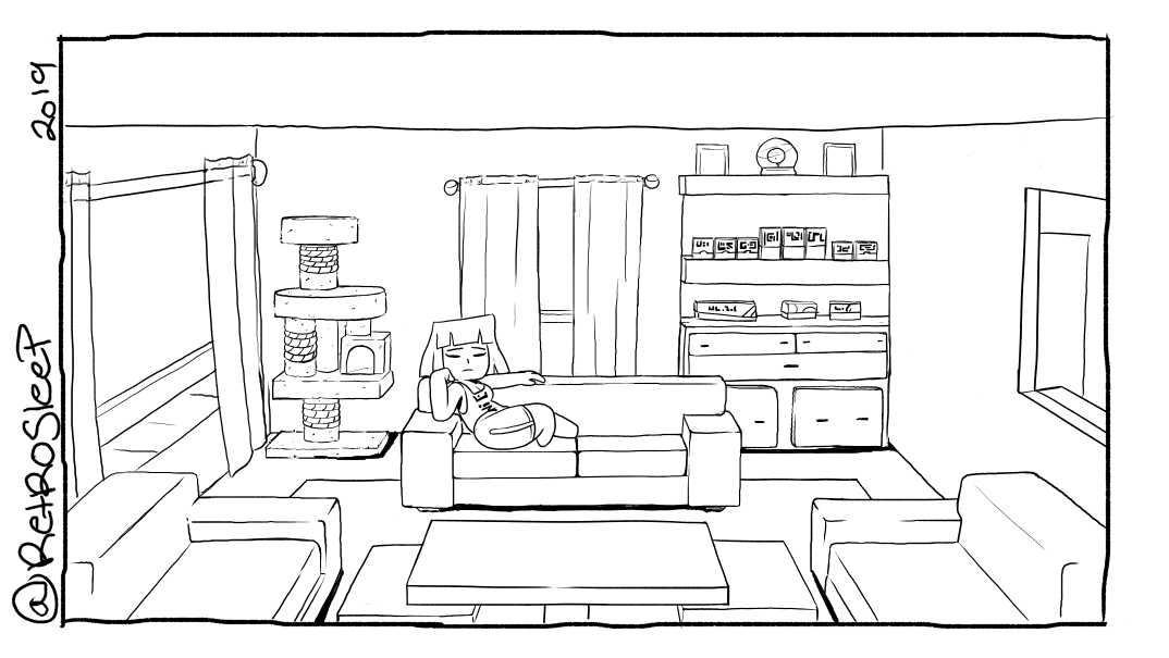 Indoor Living - Inktober 3