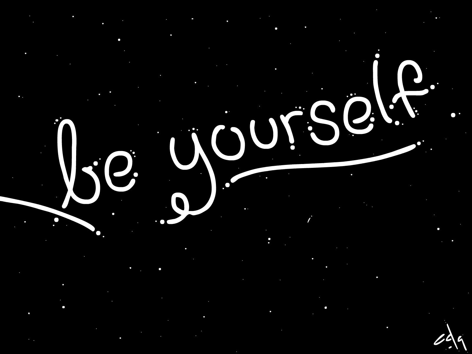 Inktober #4 Be Yourself