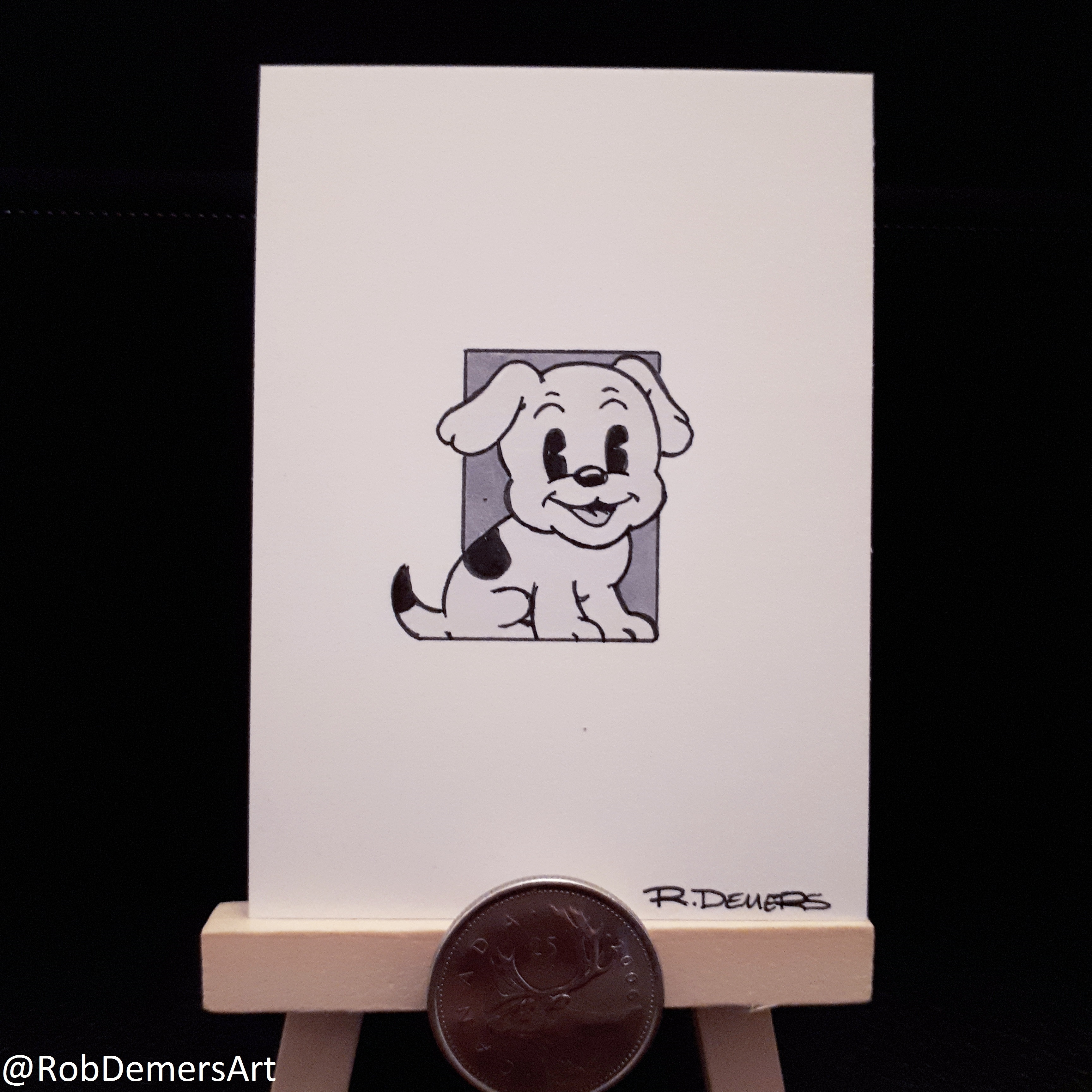Inktober/Toontober Day 7: Pudgy the Dog