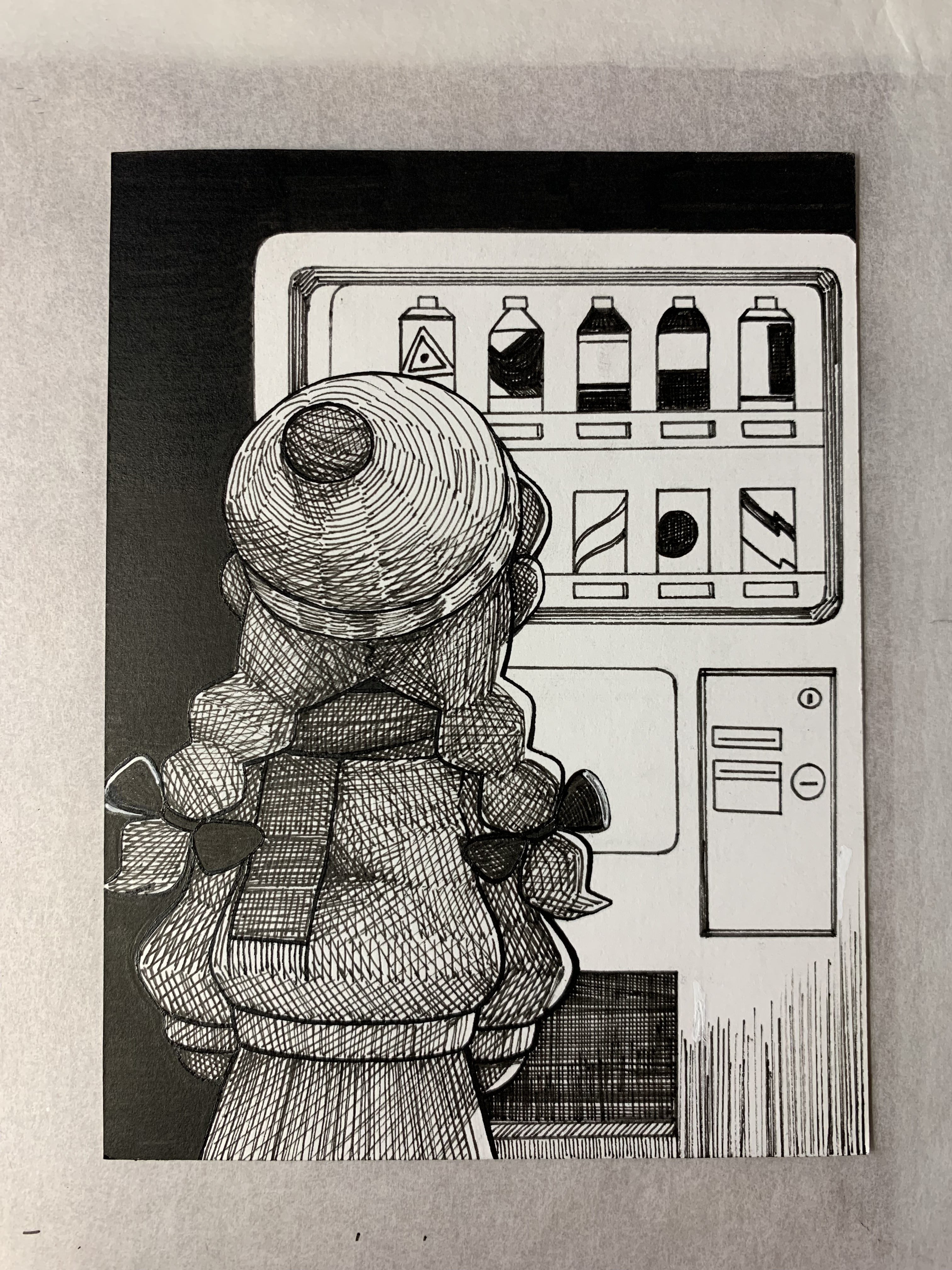 Inktober 2019 - No. 8 - Hat and Scarf
