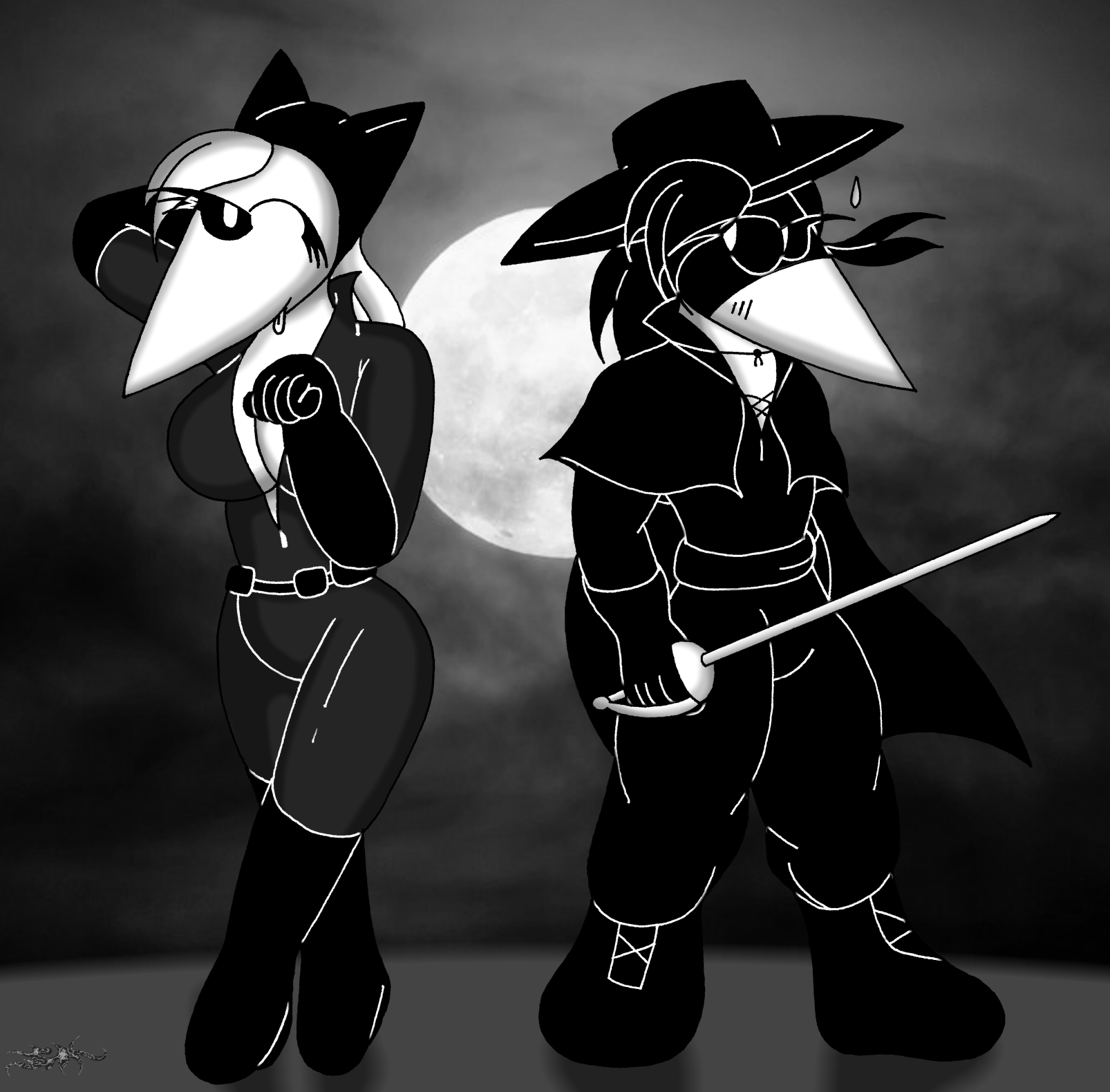 Spy Vs Spy - An epee against the naughty cat
