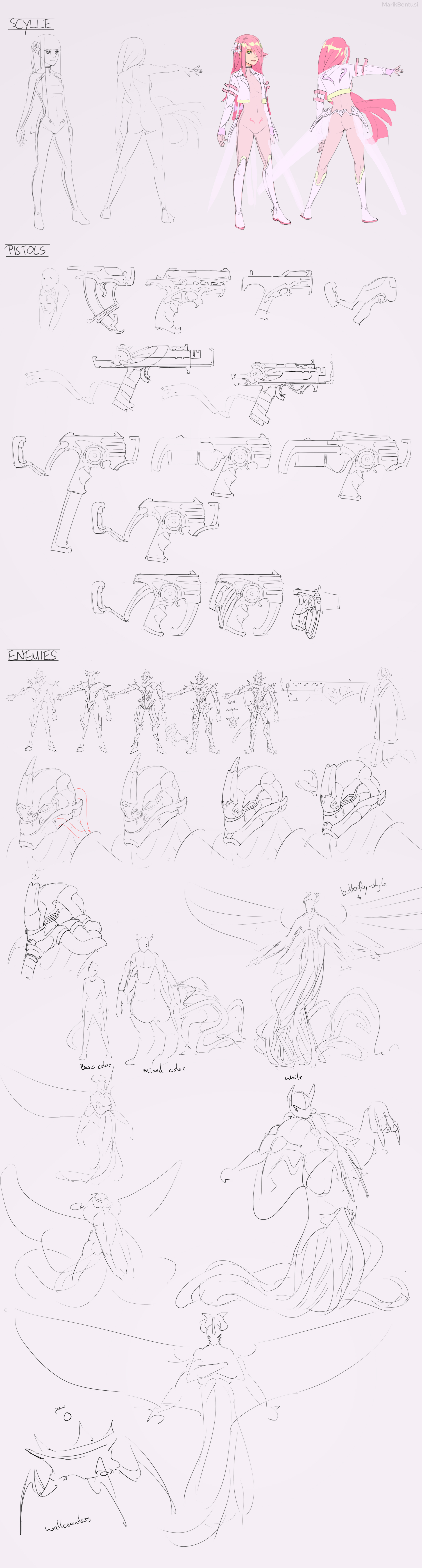 Light Weight - making of sketches