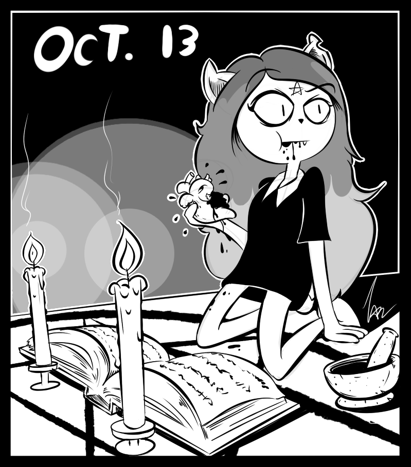 Inktober 2018 Day 13: Claire (The Summoning)