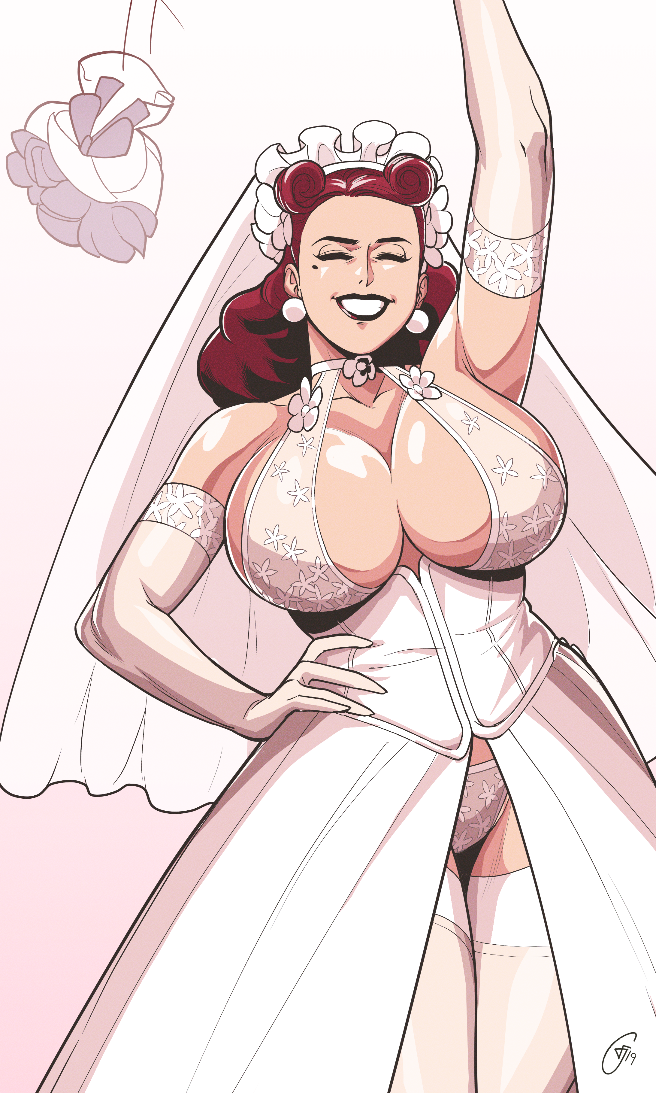 October Pin Up - Layla's Wedding