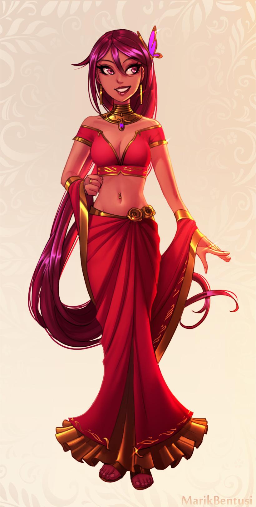Warframe: Fancy Tyri (red dress)