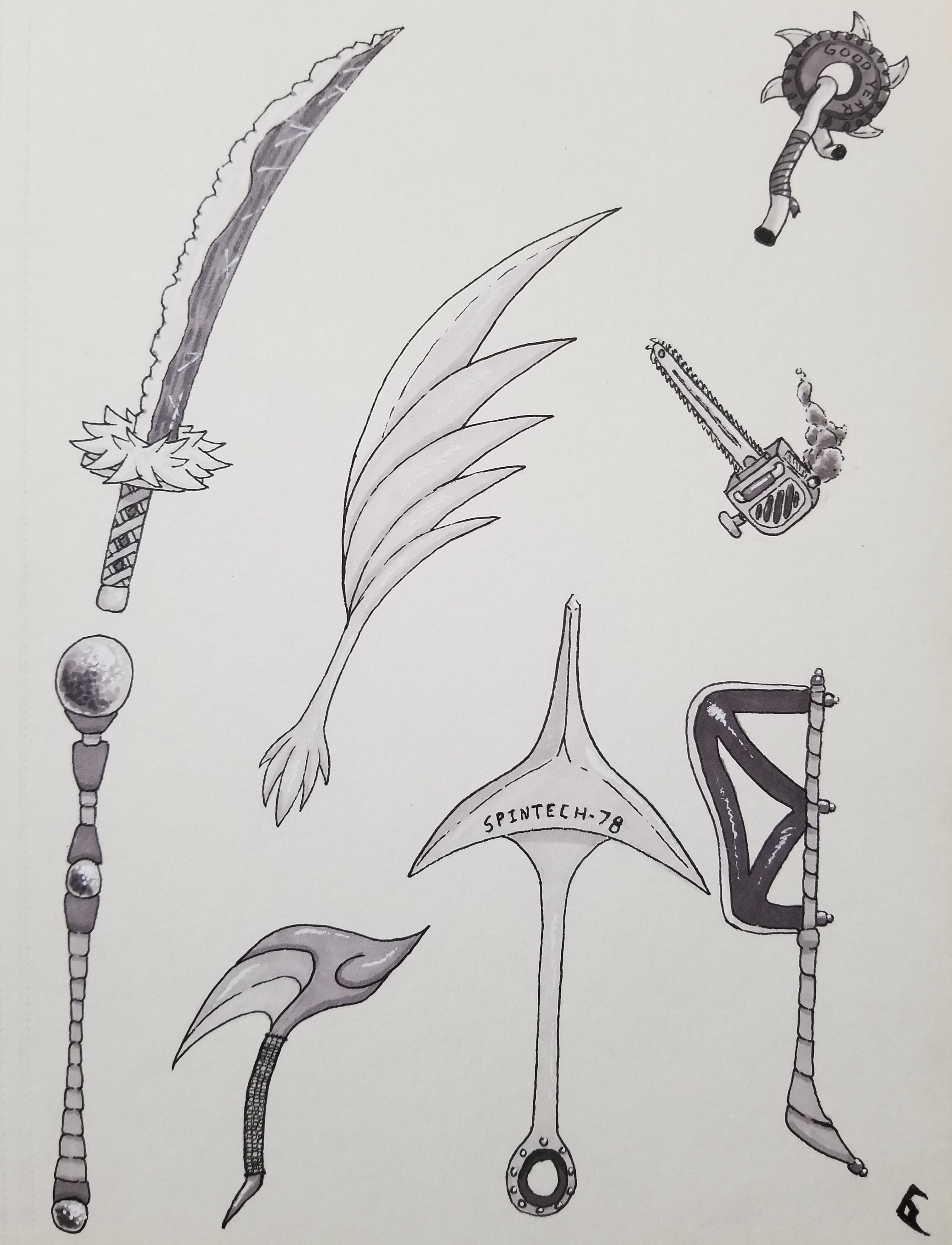 Inktober Day 15: Weapons