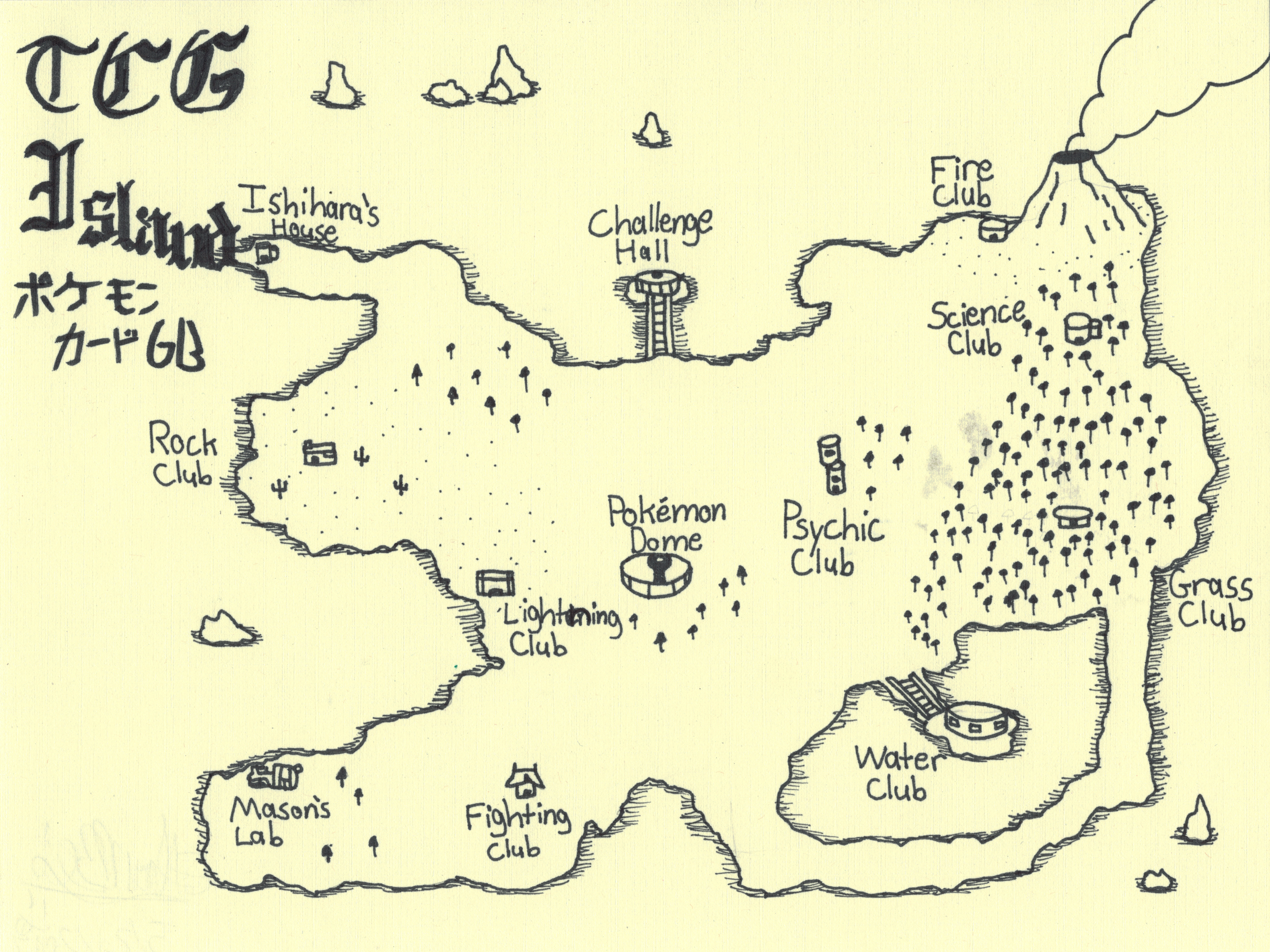 Pokemon TCG Island Medieval Styled Map (2017)