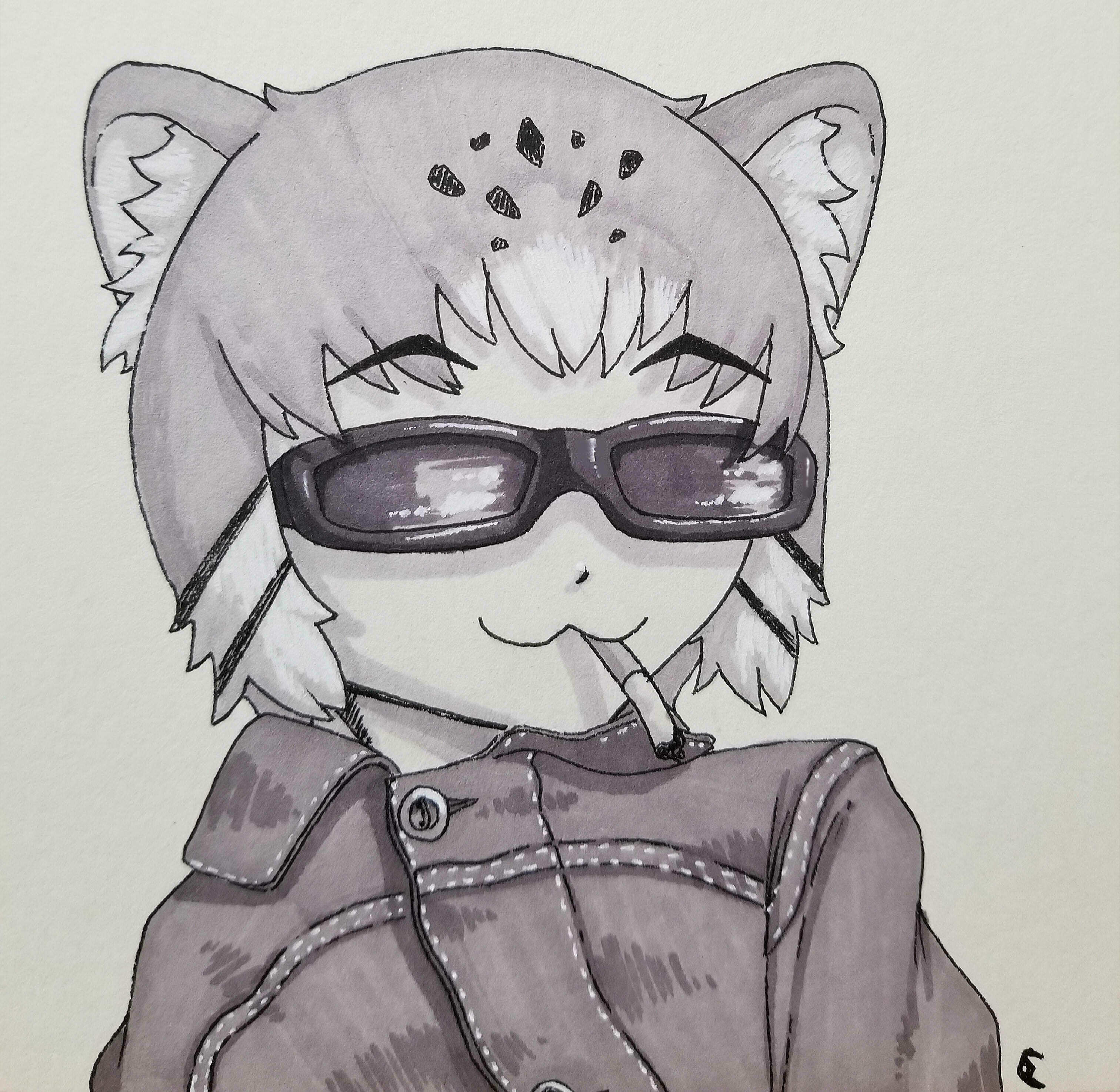 Inktober Day 16: Pallas' (Cool) Cat