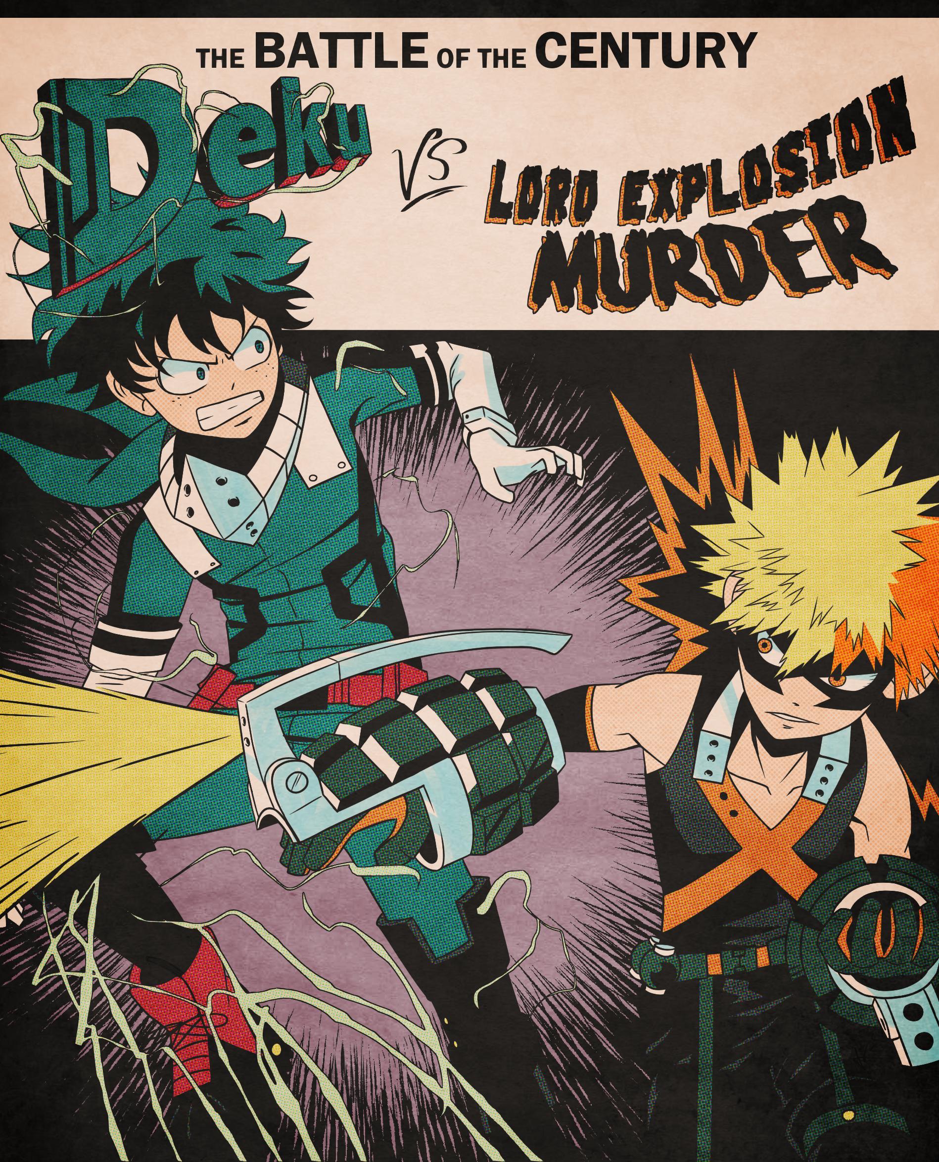Inktober day 18 - Deku vs Lord Explosion Murder