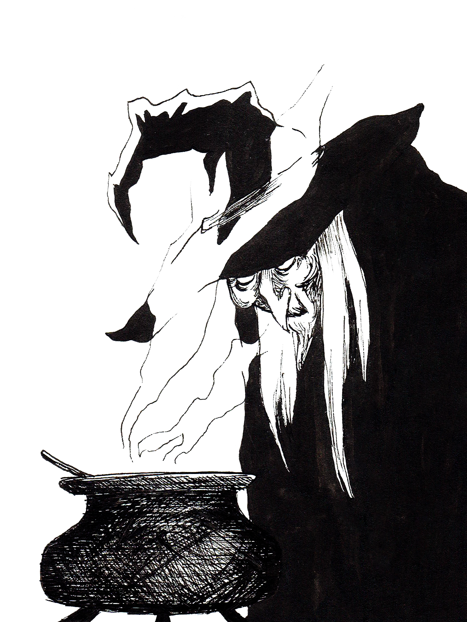 Inktober 2019 Day 18: Old Witch