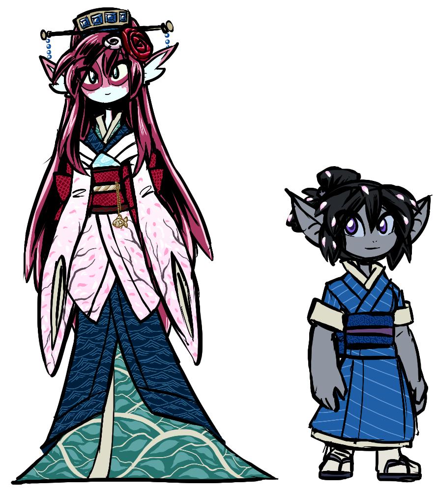 Toba and Aoko in Kimonos