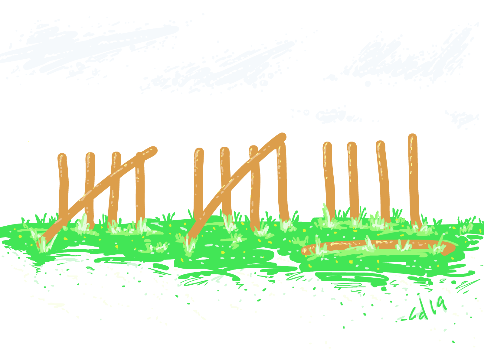 Inktober #15 Fences