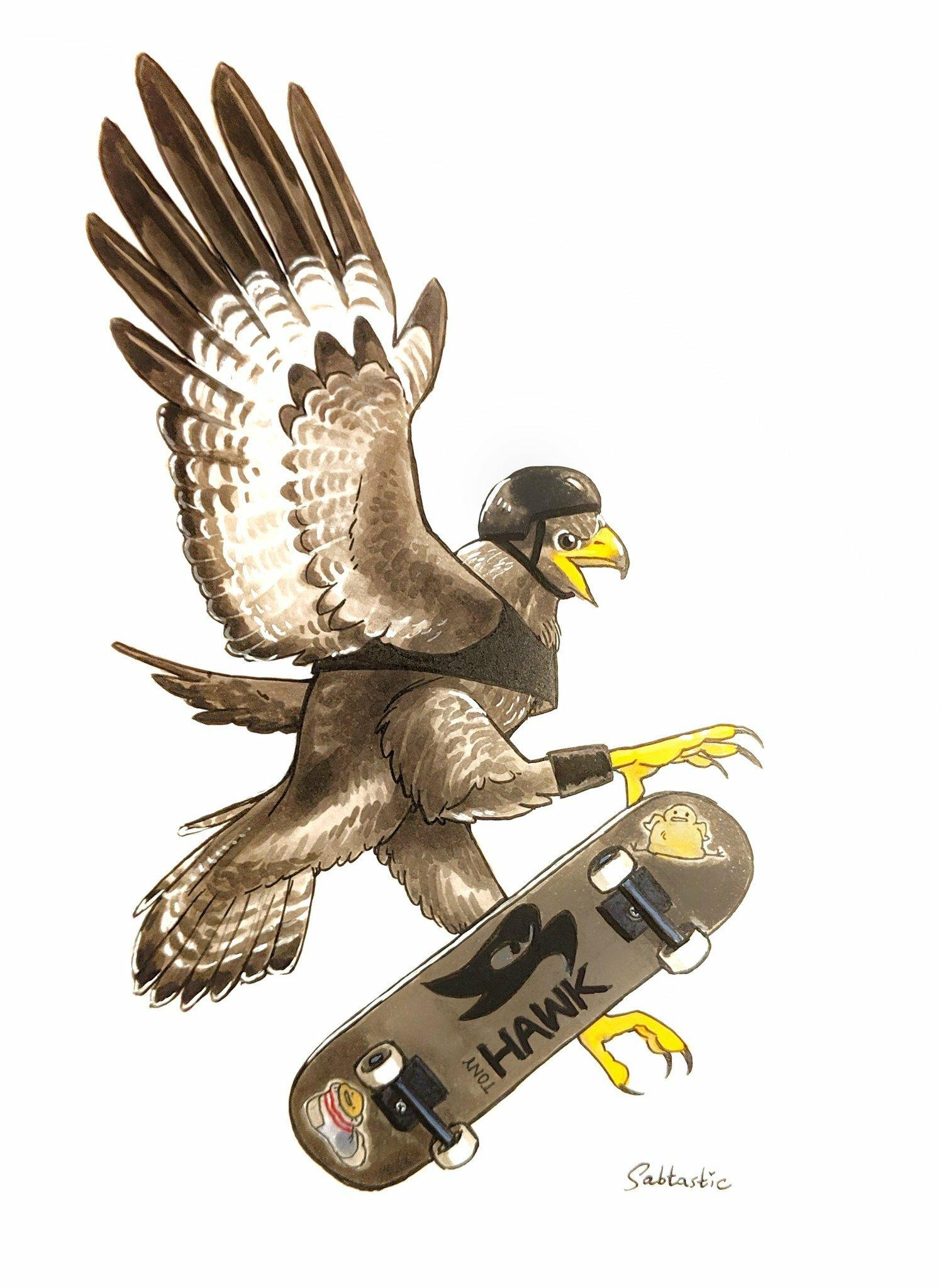 Inktober Day 21: Tony Hawk