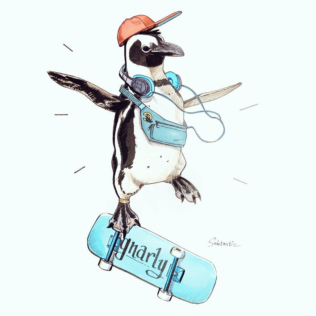 Inktober Day 22: Stylish Penguino