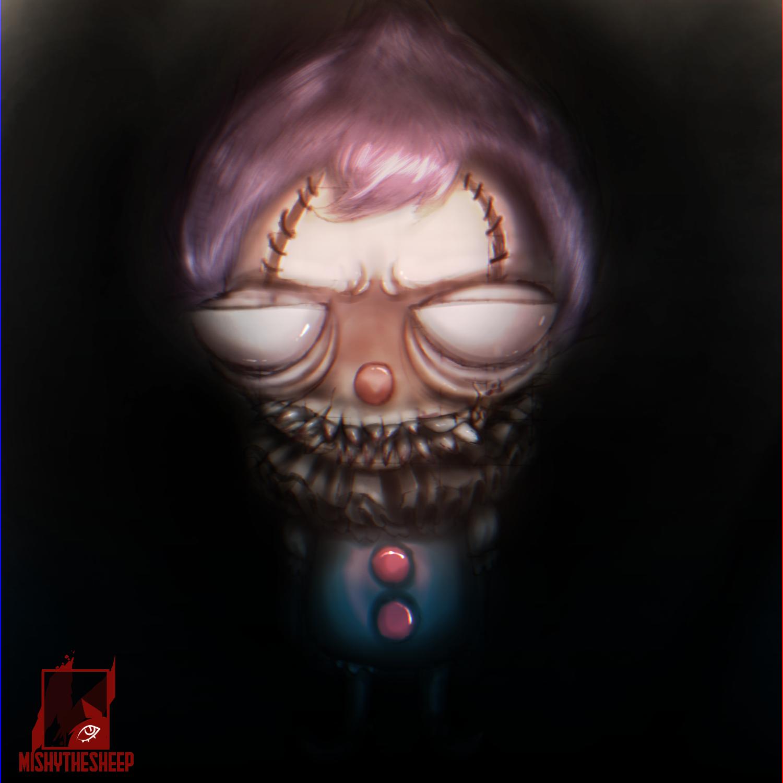 Spooky tiny clown 💜