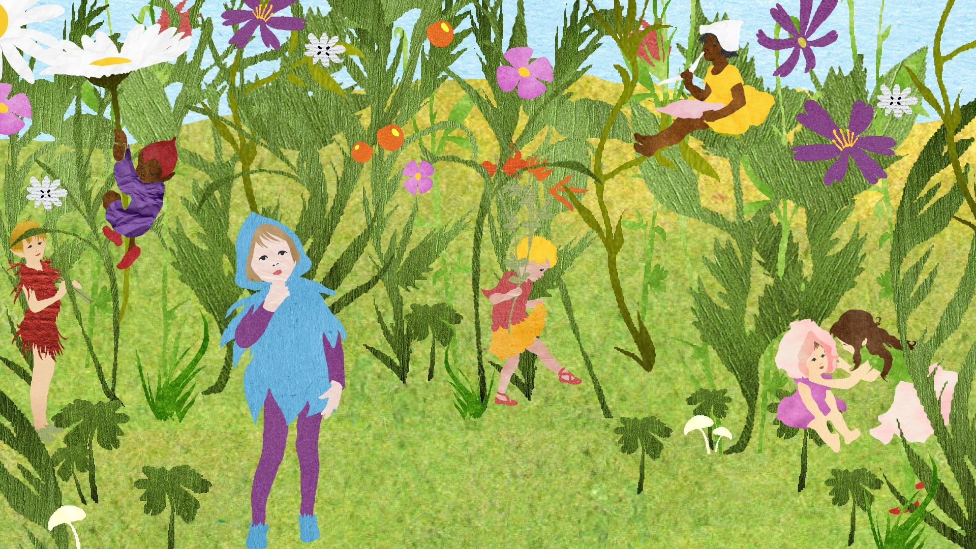 Children in the Flowers