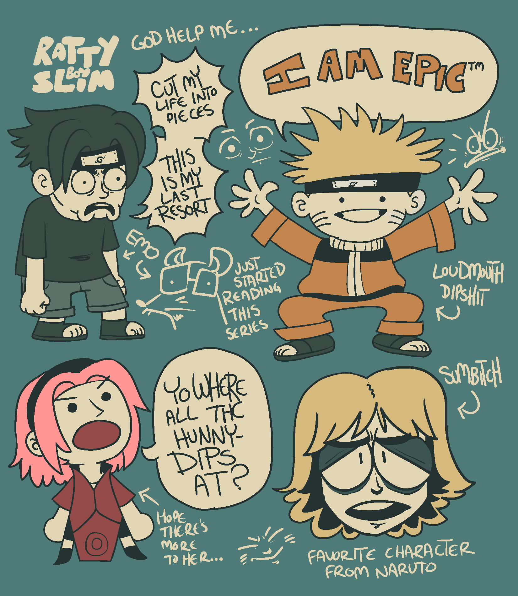 naruto and his stupid friends