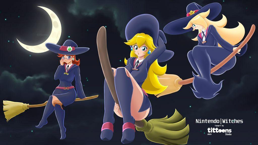 Mario Witches   Nintendo   Fanart