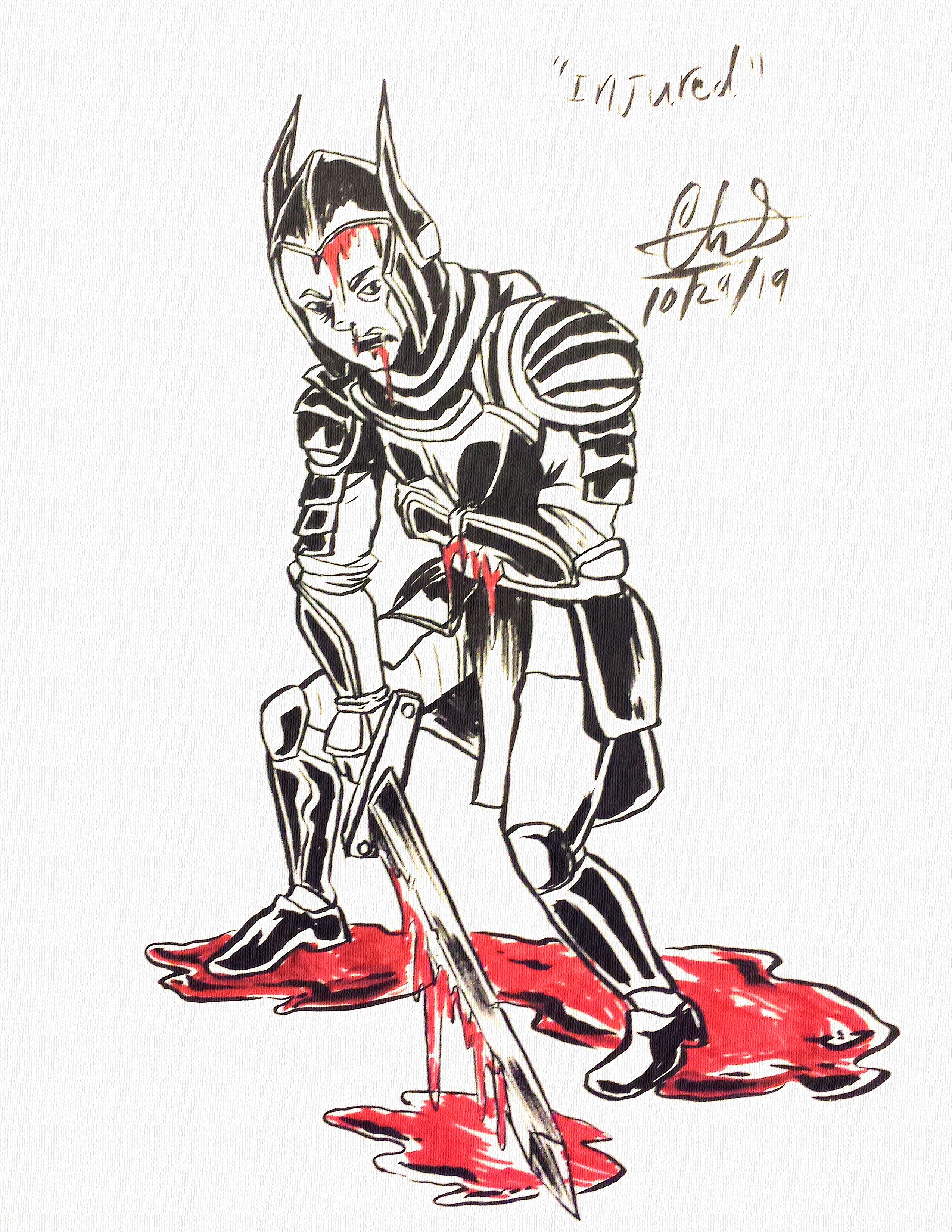 """Injured"" Inktober 2019"