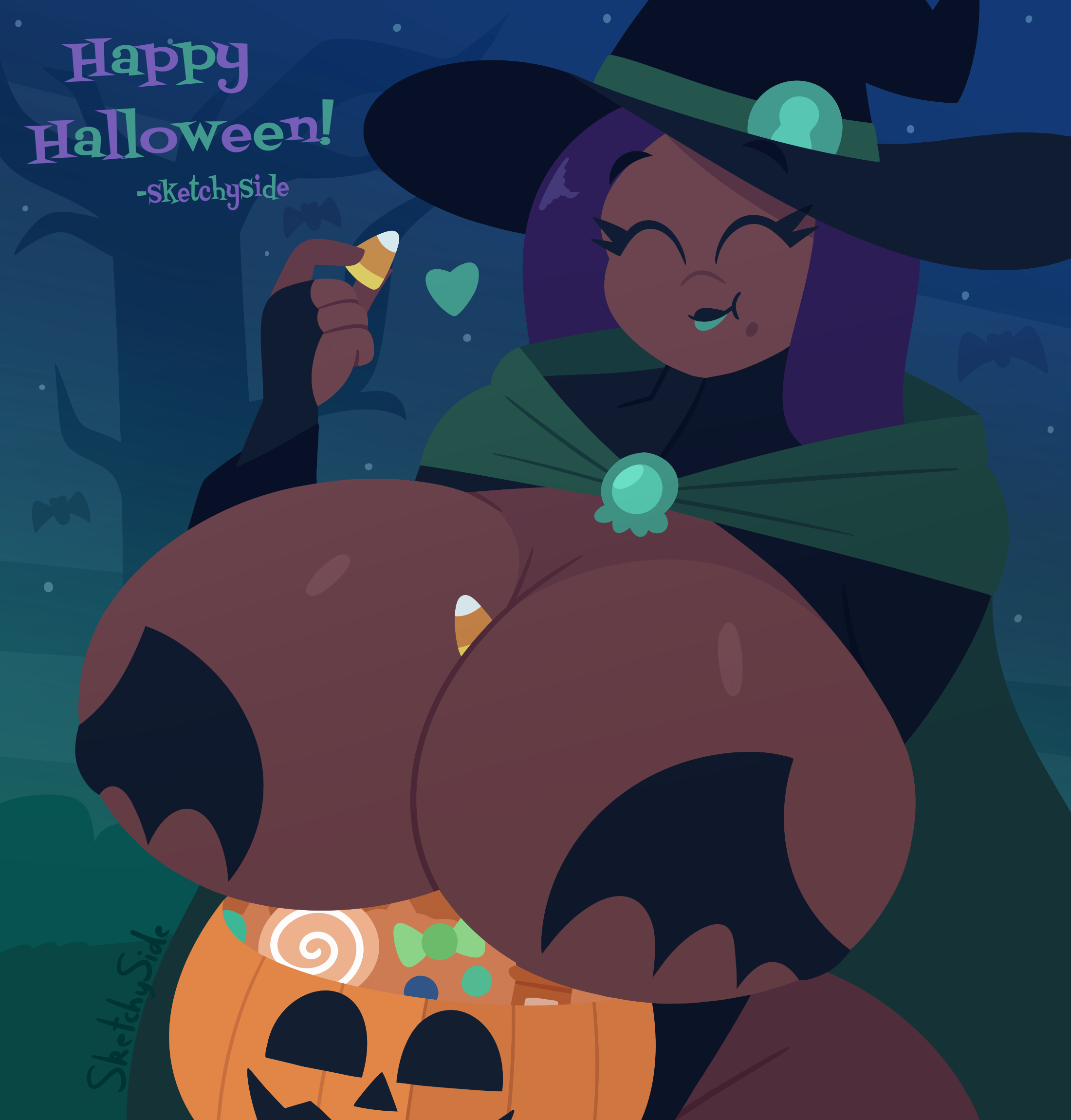 Trick or Treating witch Marina!