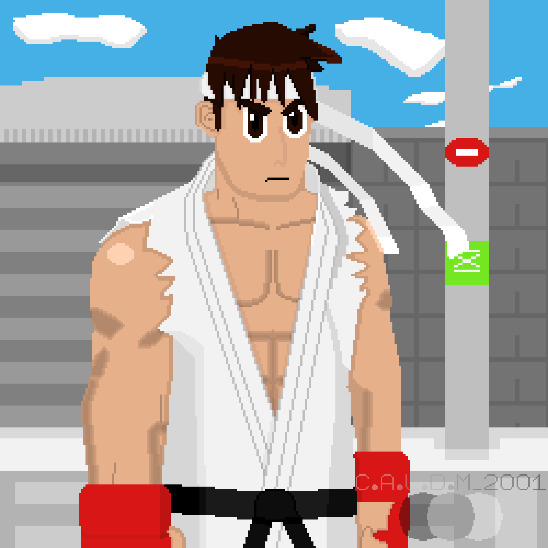Pixel Art Ryu Street Fighter Alpha By Caldm2001 On