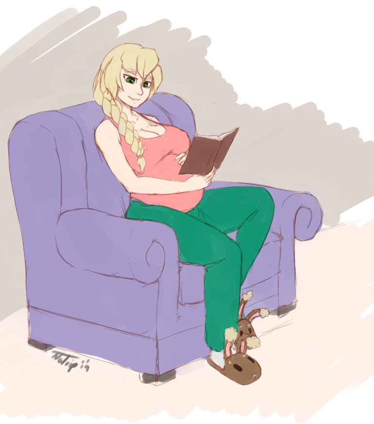 Patron Sketch: Pregnant Yvonne