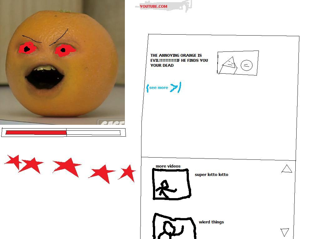 evil annoying orange