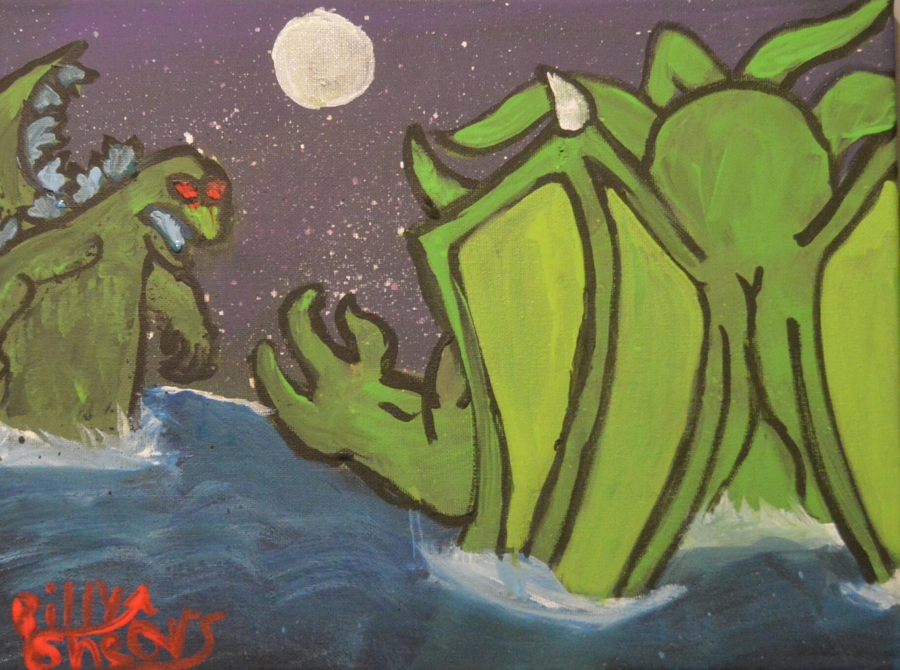 Cthulhu VS Godzilla