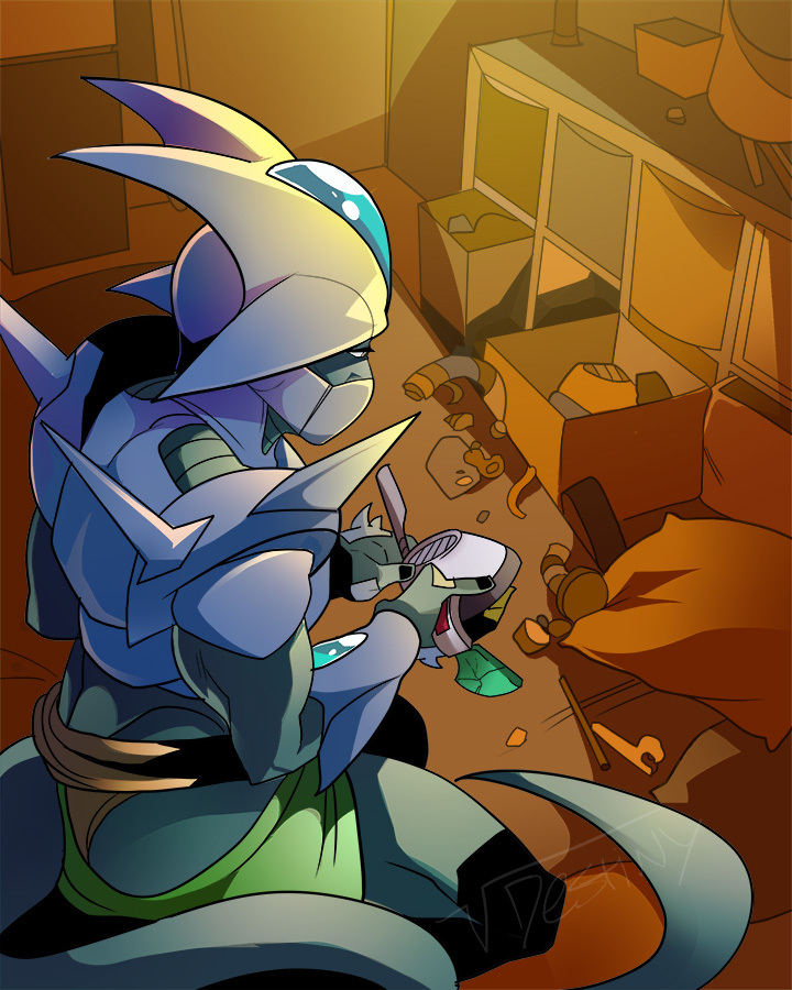 Fixing a Scouter (COMMISSION)