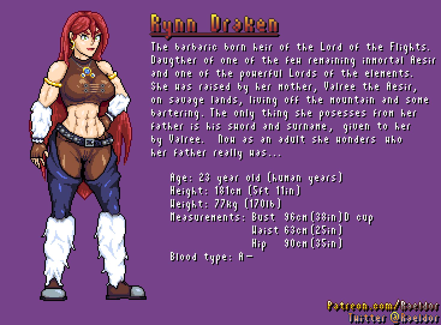 Character Sheet: Rynn Draken