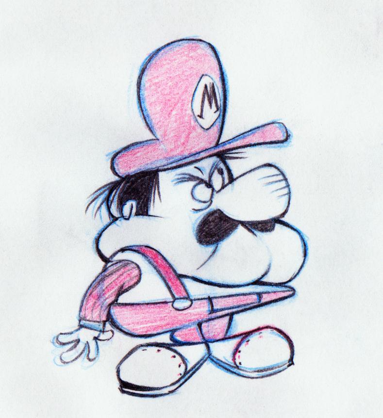 60's style Mario