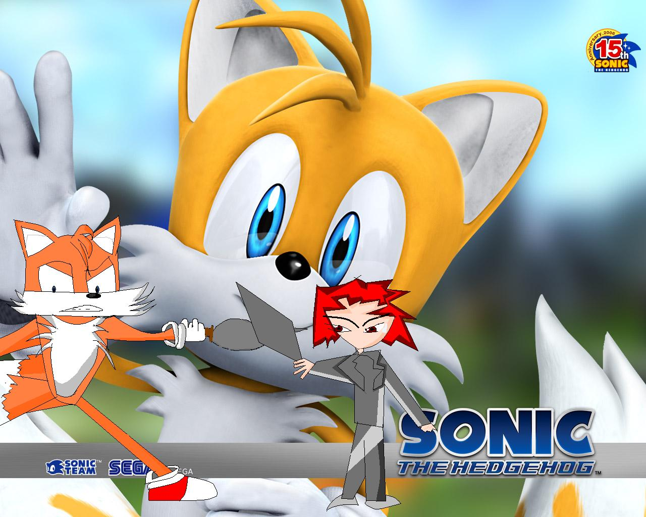 Tails running with a sword