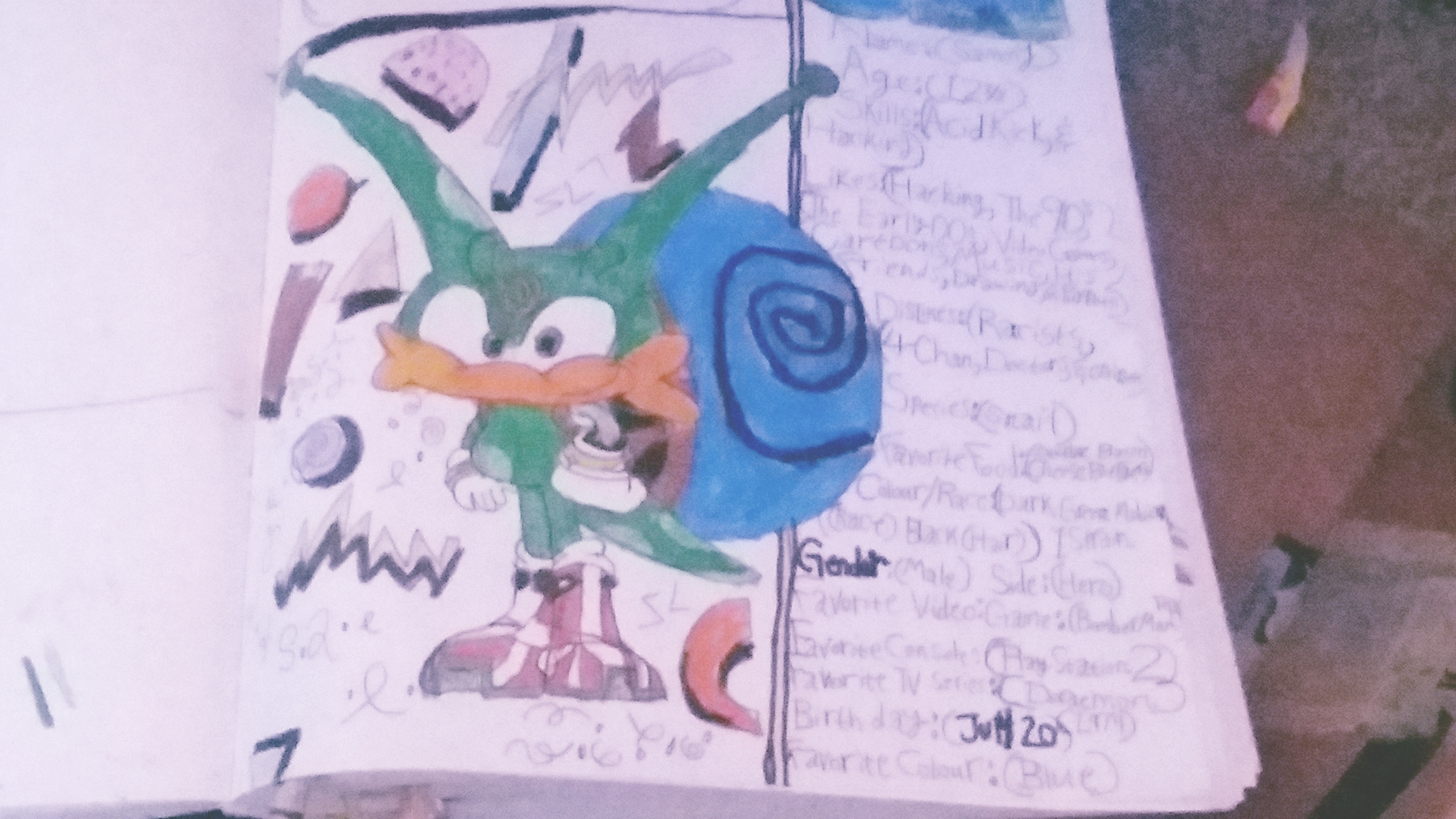 Sammy the Snail (My Sonic OC from Last Summer)