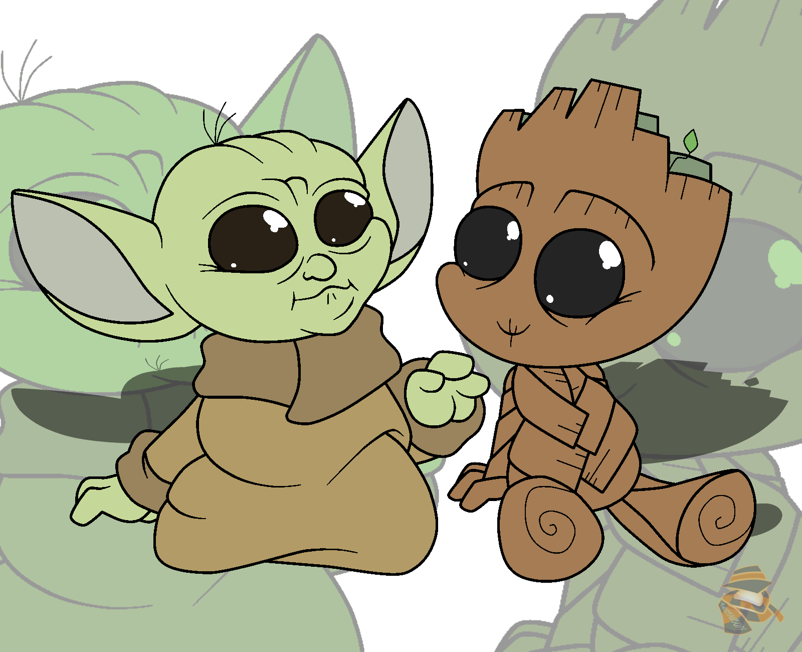 Baby Yoda Baby Groot By Theoctoberscarf On Newgrounds