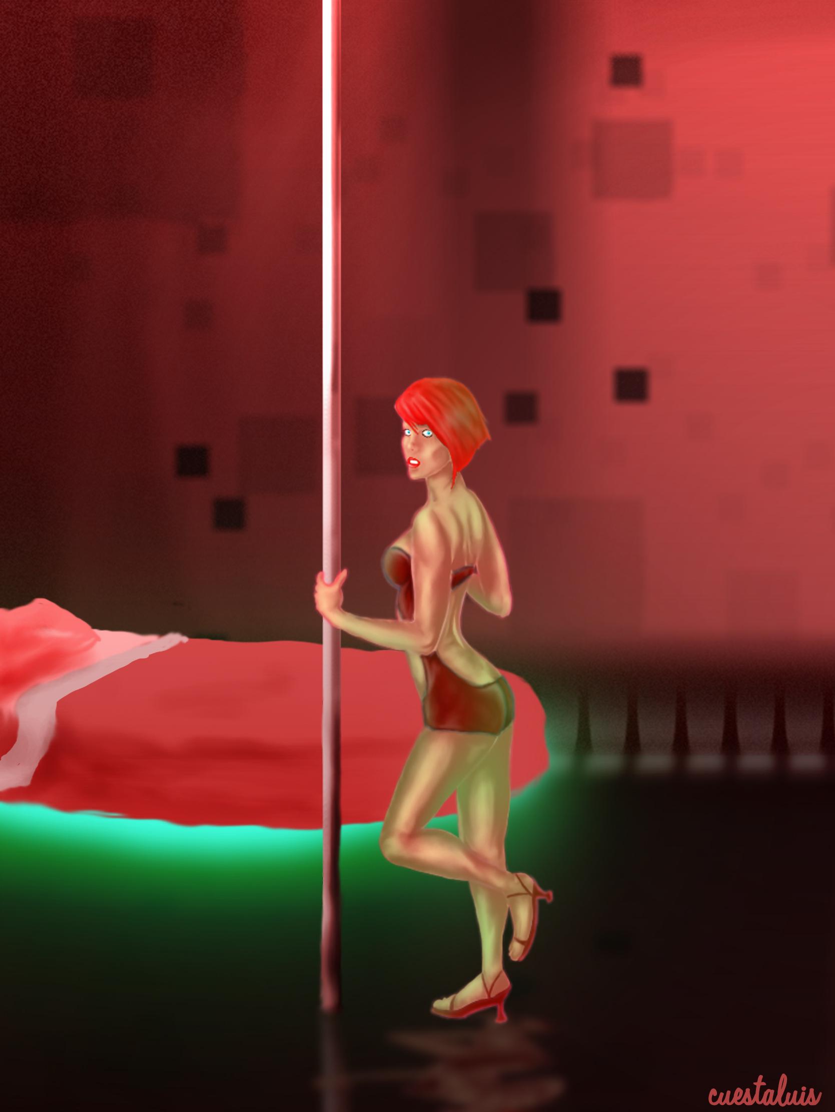 bedroom pole