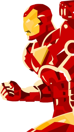 iron man without lines