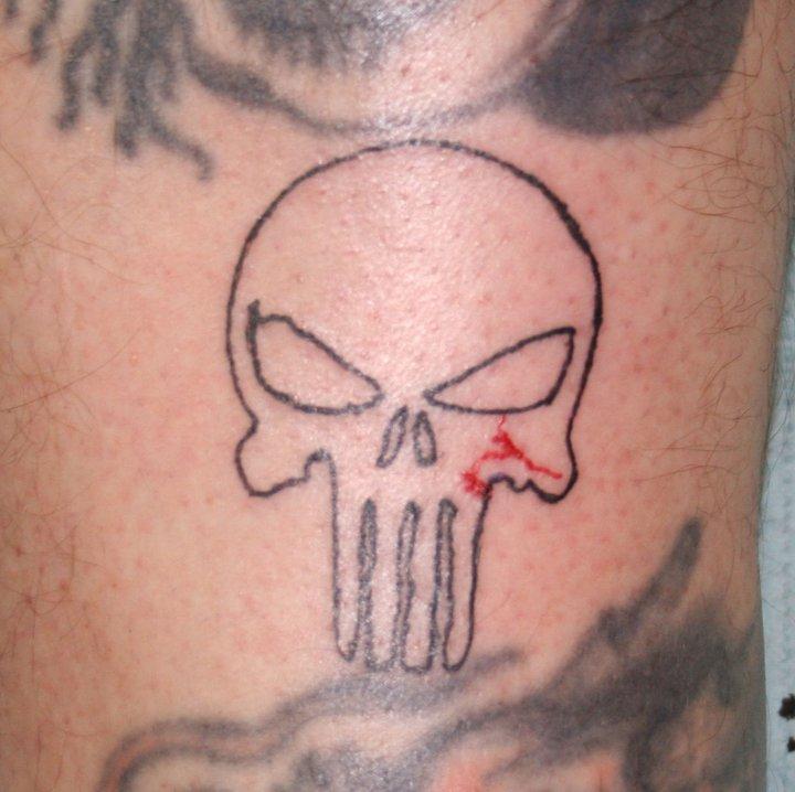 punnisher skull tatto