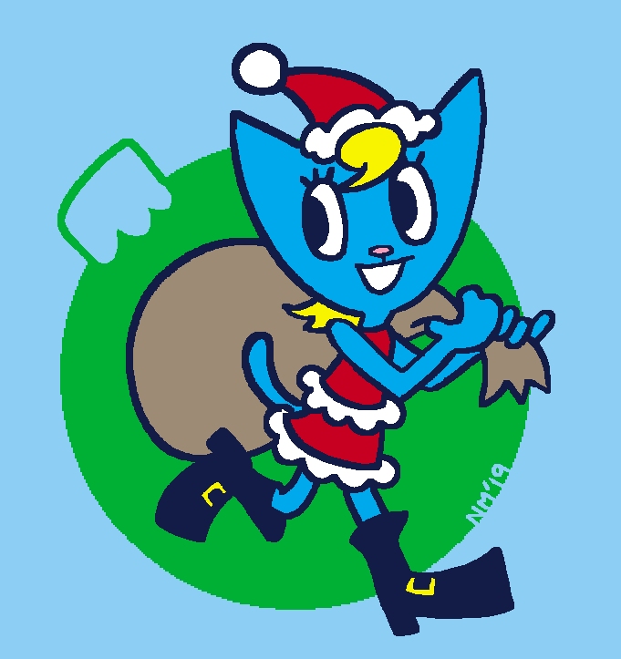 Holiday Katy Kat Commission