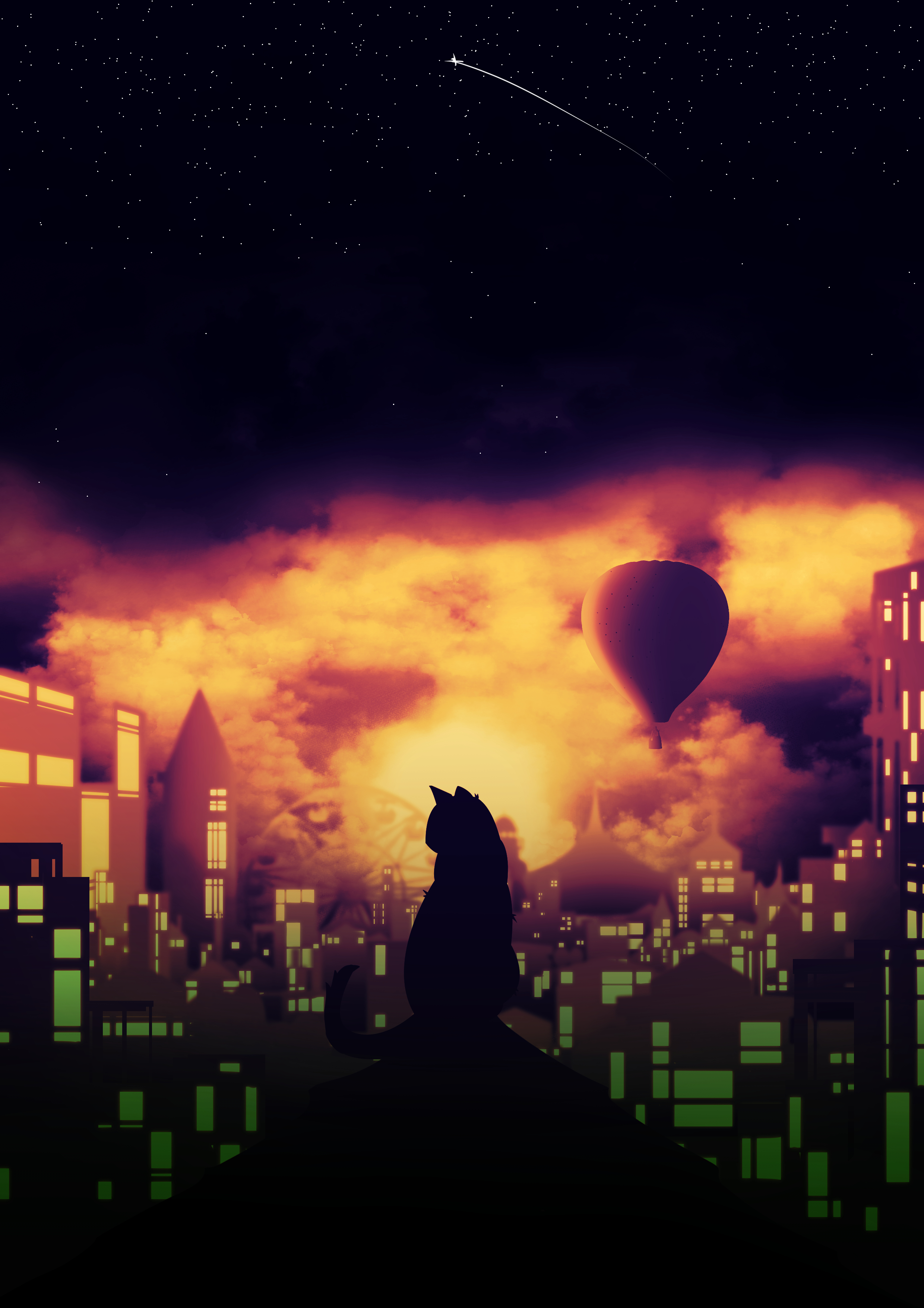 the cat at night 2
