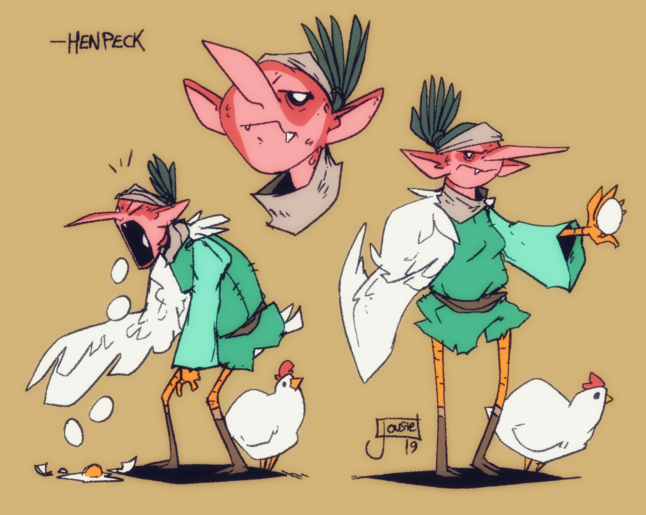 Henpeck the chicken-mage