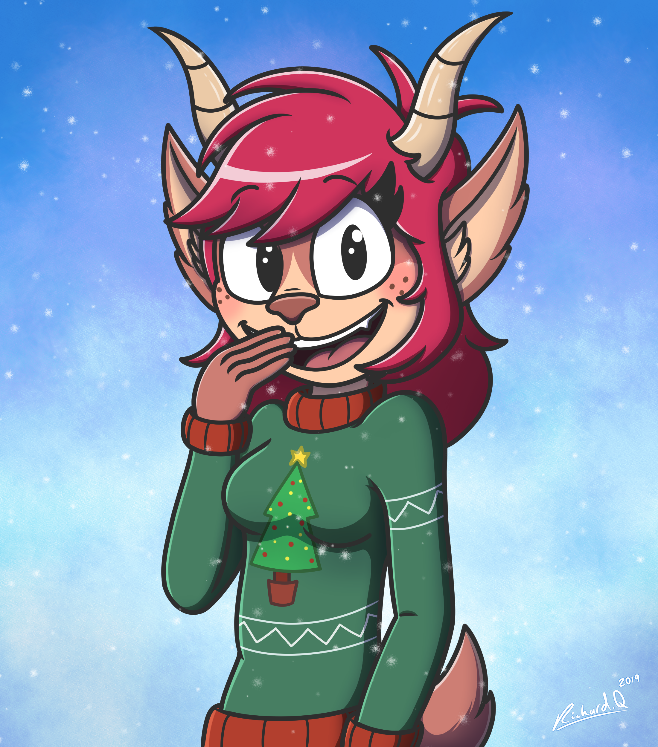 Astaria's Jolly Christmas Sweater