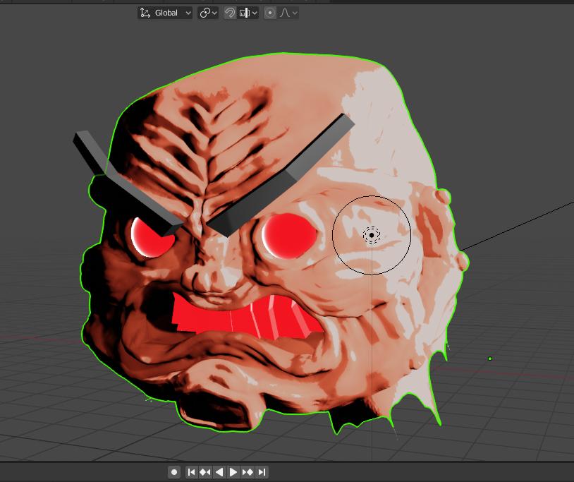 Old Man Jawbreaker Head Sculpt