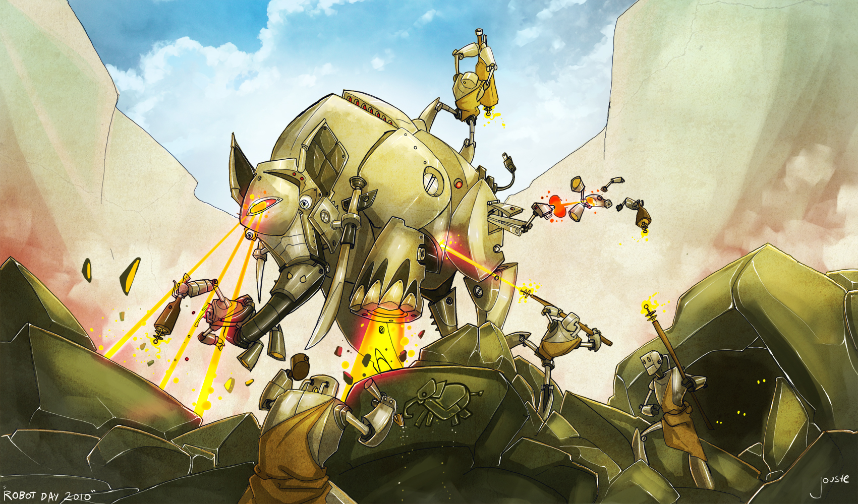 mecha-mammoth mayhem!