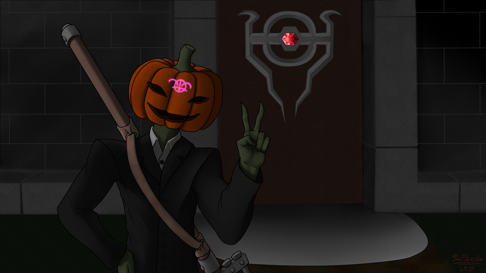 Halloween OC Pumkin Head 2-4