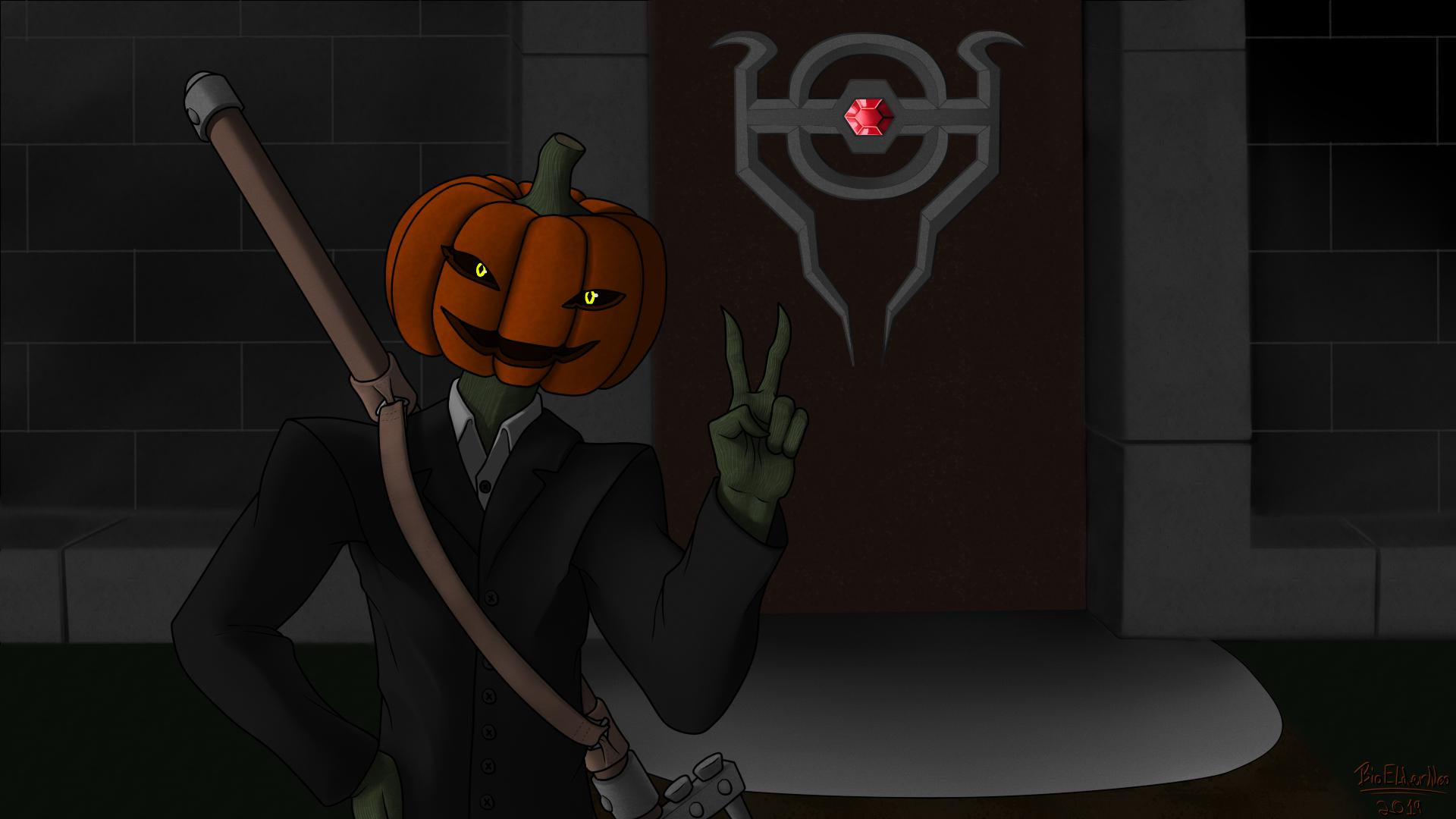 Halloween OC Pumkin Head 3-4